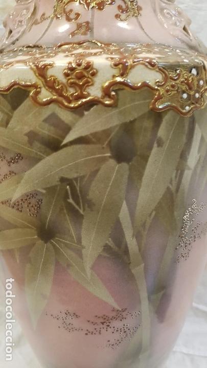 Antigüedades: JARRON MODERNISTA MARCAS EN BASE,ALTURA 44 CTMS - Foto 3 - 164757938