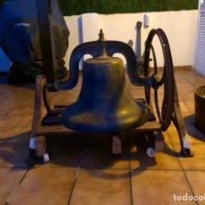 Antigüedades: CAMPANA ANTIGUA DEL SIGLO XIX , LA MÍTICA IRON BELL , MADE IN USA .. Lote 150481292