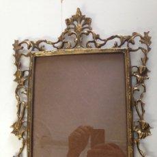 Antigüedades: MARCO PORTA FOTOS BRONCE. Lote 164774049