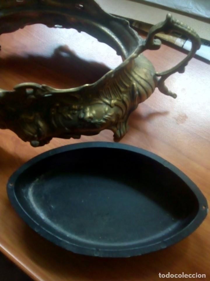 Antigüedades: ANTIGUO CENTRO DE MESA BRONCE - Foto 9 - 146763558