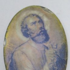 Antigüedades: BONITO SAN PEDRO. LITOGRAFA SOBRE NACAR. SIGLO XIX. Lote 164791486