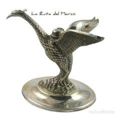 Antigüedades: CALIENTA COPAS DE ALPACA - CORTASA - AVE - BASE UN POCO DEFORMADA. Lote 164803882