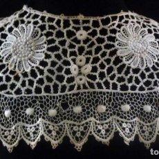 Antigüedades: ANTIGUA CAPELINA DE ENCAJE DE GUIPUR - S.XIX. Lote 164810706
