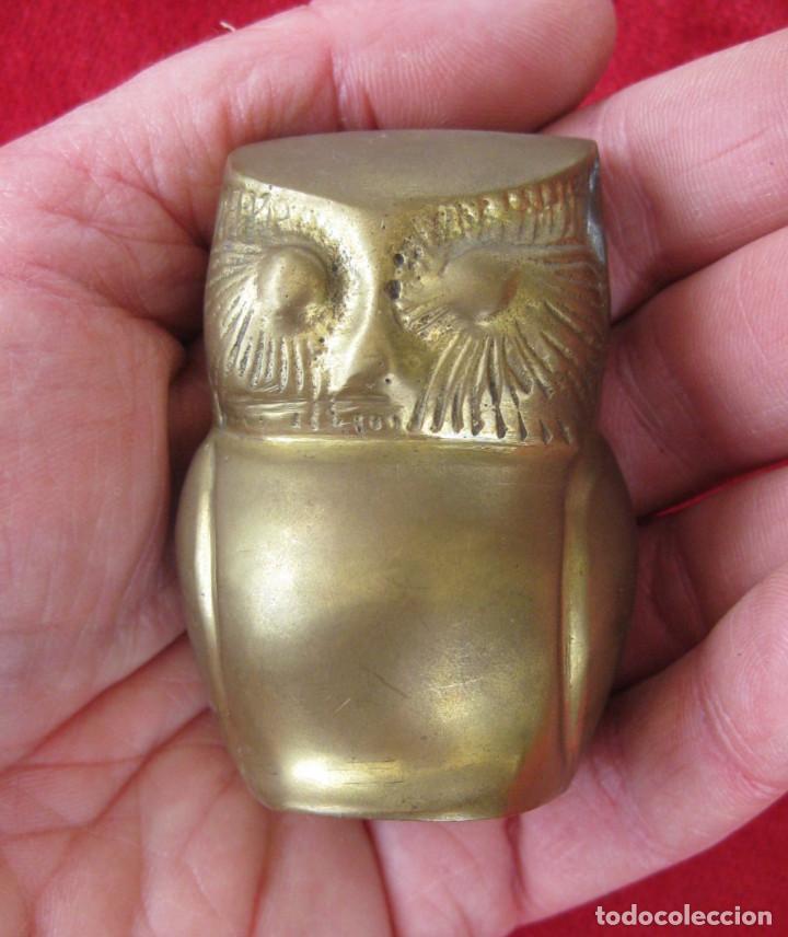 BUHO EN BRONCE PIEZA DE COLECCIÓN (Antigüedades - Hogar y Decoración - Figuras Antiguas)