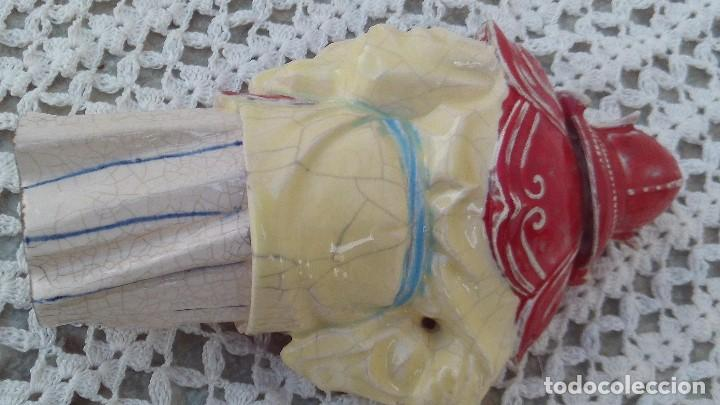 Antigüedades: figura de algora ,chino en porcelana esmaltada - Foto 3 - 164848366