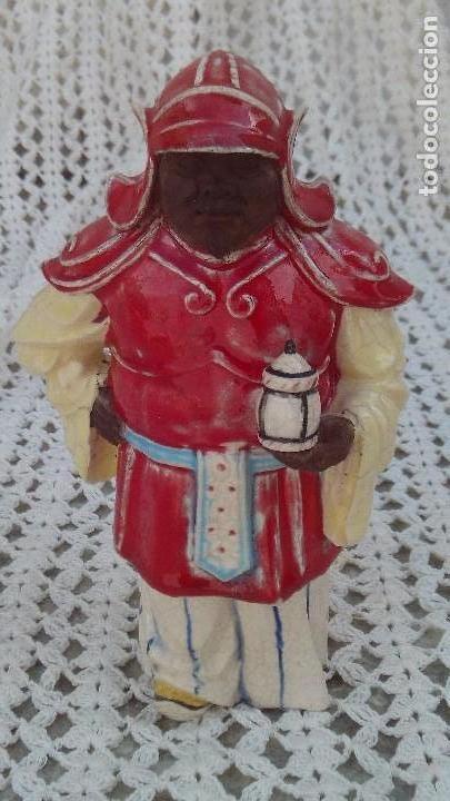 FIGURA DE ALGORA ,CHINO EN PORCELANA ESMALTADA (Antigüedades - Porcelanas y Cerámicas - Algora)