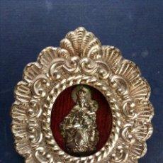 Antigüedades: RELICARIO VIRGEN DEL CARMEN. . Lote 164880486
