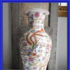 Antigüedades: PRECIOSO JARRON ANTIGUO DE PORCELANA CHINA DECORADO A MANO. Lote 164880534