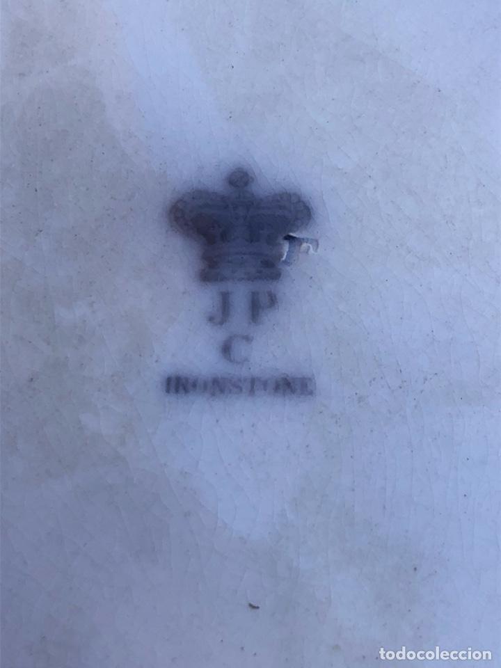 Antigüedades: Bonito plato inglés JPC-IRONSTONE, siglo XIX - Foto 5 - 164898493