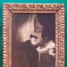 Antigüedades: ANTIGUO CUADRO TALLADO PINTADO PAN DE ORO. Lote 164913862