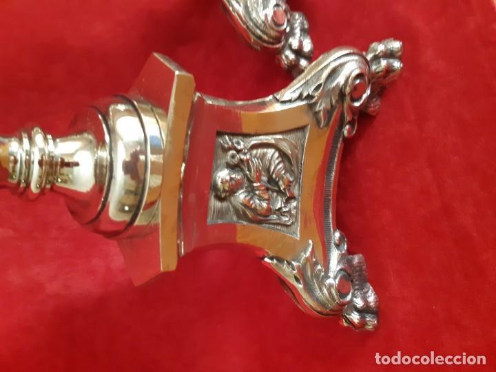 Antigüedades: Pareja de candelabros meneses - Foto 5 - 164924318