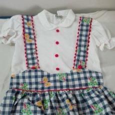 Antigüedades: VESTIDO VINTAGE INFANTIL NUEVO. Lote 164980134