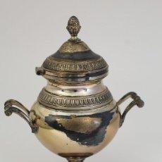 Antigüedades: MECHERO DE MESA EN PLATA DE LEY 925MILESIMAS. Lote 175733892