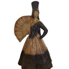 Antigüedades: MAJA-GOYESCA-SEVILLANA DE ANTONIO PEYRÓ,?, NUMERADA, MUY ANTIGUA, 57CM ALTURA.. Lote 165014082