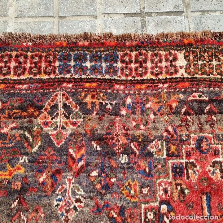 Antigüedades: GRAN ALFOMBRA SHIRAZ. LANA ANUDADA A MANO. IRAN. PRIMERA MITAD SIGLO XX - Foto 4 - 165019590