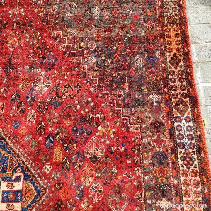 Antigüedades: GRAN ALFOMBRA SHIRAZ. LANA ANUDADA A MANO. IRAN. PRIMERA MITAD SIGLO XX - Foto 7 - 165019590