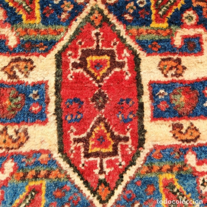 Antigüedades: GRAN ALFOMBRA SHIRAZ. LANA ANUDADA A MANO. IRAN. PRIMERA MITAD SIGLO XX - Foto 9 - 165019590