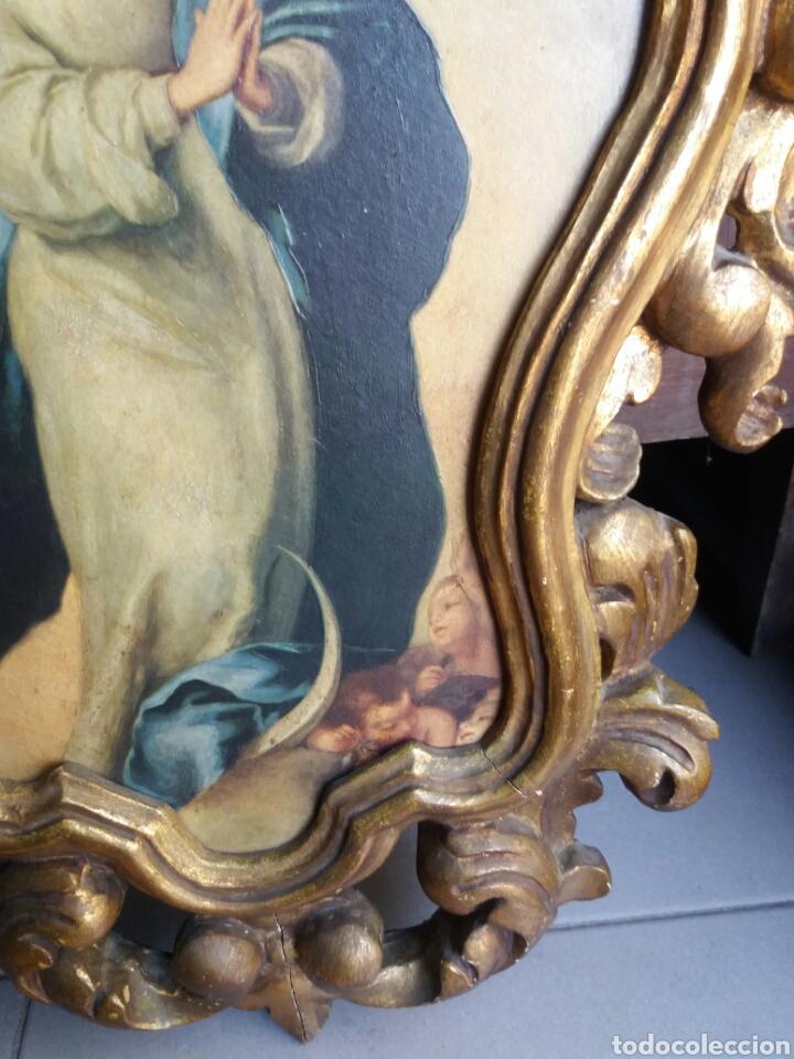 Antigüedades: BONITA CORNUCOPIA ANTIGUA DE MADERA EN ORO FINO - Foto 5 - 165036626