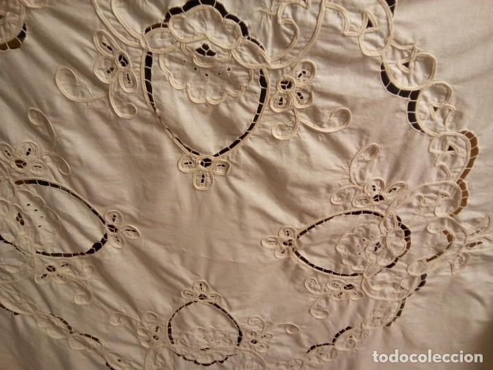 Antigüedades: * CORTINA BORDADA. 2,10M. (RF: 358/c) - Foto 3 - 165039378