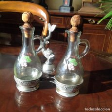 Antigüedades: VINAGRERAS.PLATA DE LEY ANTIGUA.. Lote 165042714