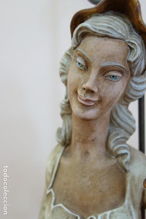 Antigüedades: PAREJA DE LAMPARAS DE PORCELANA DE MEDIADOS DEL SIGLO XX - Foto 3 - 165044282