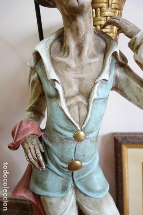 Antigüedades: PAREJA DE LAMPARAS DE PORCELANA DE MEDIADOS DEL SIGLO XX - Foto 7 - 165044282