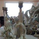 Antigüedades: LAMPARA DE PORCELANA DE LLADRÓ DE LOS AÑOS 70. Lote 165045974