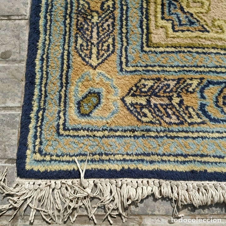 Antigüedades: ALFOMBRA CAUCÁSICA. COLORES INTENSOS. LANA ANUDADA A MANO. CÁUCASO. CIRCA 1980 - Foto 9 - 165048590