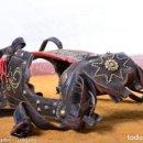 Antigüedades: CABEZAL O ANTEOJERAS DE GALA PARA CABALLO, BURRO, ASNO - PRECIOSA DECORACIÓN E INICIALES TACHUELAS. Lote 165048682