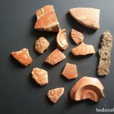 Antigüedades: LOTE DE SIGILATA ROMANA Y CUCHILLO. Lote 165053234