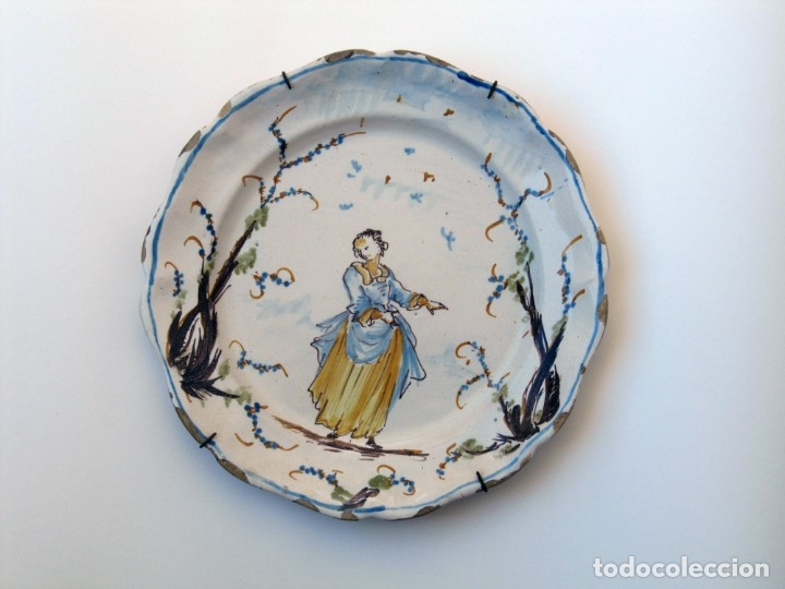 PLATO DE CERÁMICA, SAVONA (LIGURIA, ITALIA) S. XVIII (Antigüedades - Porcelanas y Cerámicas - Otras)