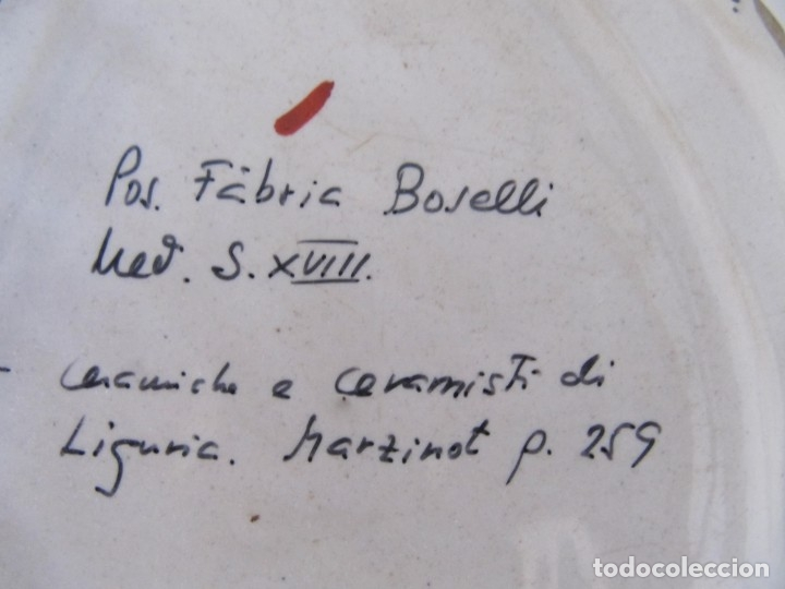 Antigüedades: Plato de cerámica, Savona (Liguria, Italia) s. XVIII - Foto 5 - 134046930
