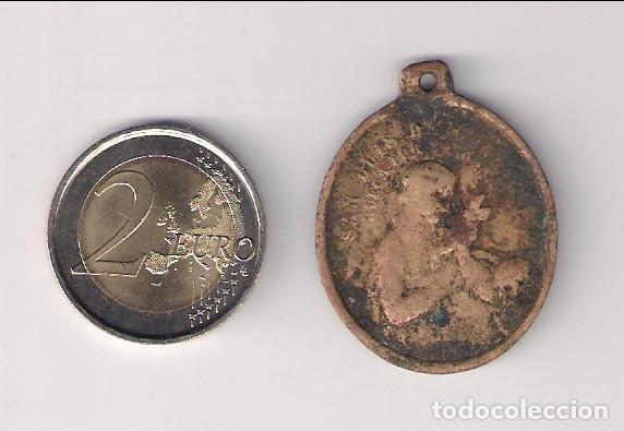 MEDALLA ANTIGUA DE SAN LUIS DE GONZAGA Y MARÍA CONCEPCIÓN. (MD98) (Antigüedades - Religiosas - Medallas Antiguas)