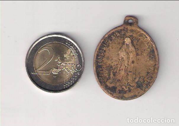 Antigüedades: MEDALLA ANTIGUA DE SAN LUIS DE GONZAGA Y MARÍA CONCEPCIÓN. (MD98) - Foto 2 - 165068122
