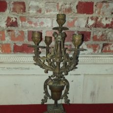 Antigüedades: ANTIGUO CANDELABRO DE BRONCE SIGLO XIX. Lote 165089590