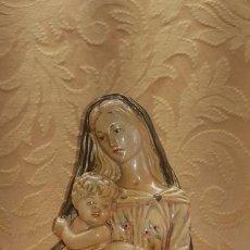 Antigüedades: BUSTO VIRGEN CON NIÑO. Lote 165089618
