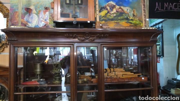 Antigüedades: VITRINA ALEMANA AÑO 1900 - Foto 2 - 165094948