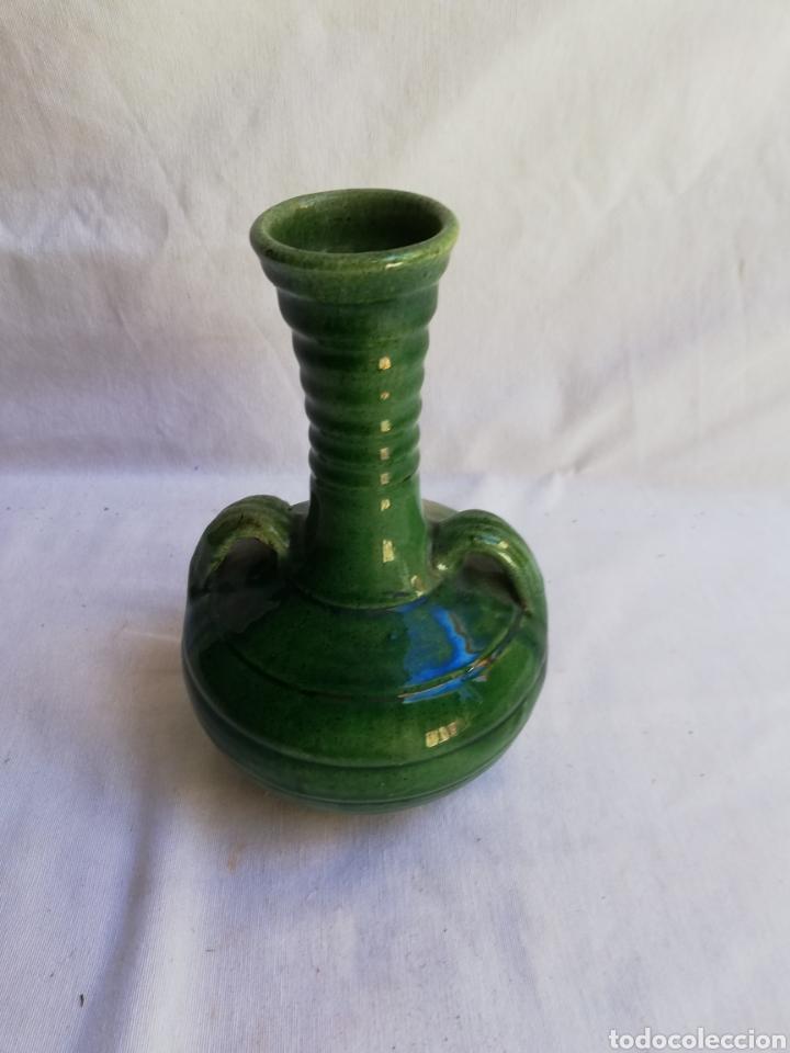 Antigüedades: JARRON CERAMICA VERDE VIDRIADA. TITO UBEDA. - Foto 3 - 165109982