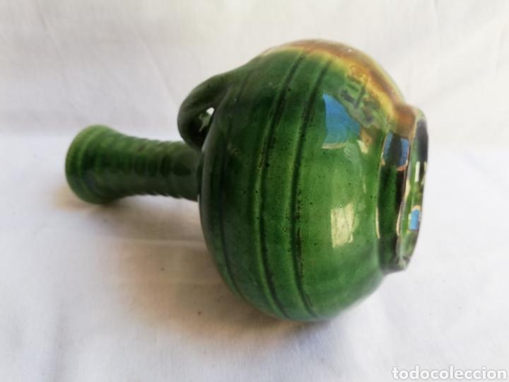 Antigüedades: JARRON CERAMICA VERDE VIDRIADA. TITO UBEDA. - Foto 5 - 165109982