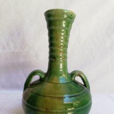 Antigüedades: JARRON CERAMICA VERDE VIDRIADA. TITO UBEDA.. Lote 165109982