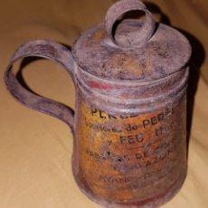 Antigüedades: ANTIGUA JARRA DE HOJALATA ARTE DE HOJALATERO. Lote 165117486