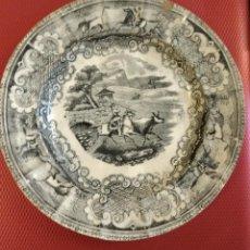 Antigüedades: PLATO PEQUEÑO DE CARTAGENA, 16 CM DE DIÁMETRO. PICADOR DE TOROS.. Lote 165127226