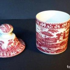 Antiquités: TIBOR O JARRÓN DE PORCELANA SAN CLAUDIO. Lote 165136142
