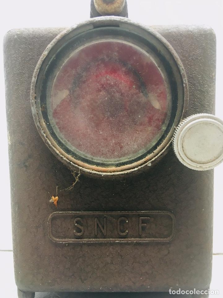 Antigüedades: LOTE DE 2 LINTERNA ANTIGUA DE FERROVIARIO FAROL WONDER FOCO SNCF MODELO TIFON DE TREN FRANCES - Foto 7 - 165138694