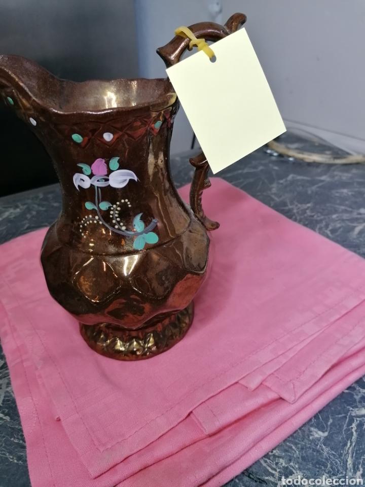 Antigüedades: Jarra de cerámica dorada Bristol - Foto 3 - 165149252