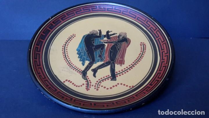 PLATO DE TERRACOTA GRIEGO (Antigüedades - Hogar y Decoración - Platos Antiguos)