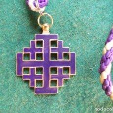 Antigüedades: MEDALLA HERMANDAD ANTIGUA CON CORDON JESÚS NAZARENO BARBATE. Lote 183054713
