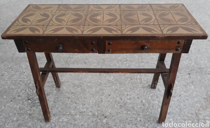Lote 12 mesas de cocina rusticas con cajones y azulejos
