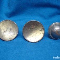 Antigüedades: ANTIGUOS TIRADORES DE METAL - 3 UNIDADES. Lote 165189886