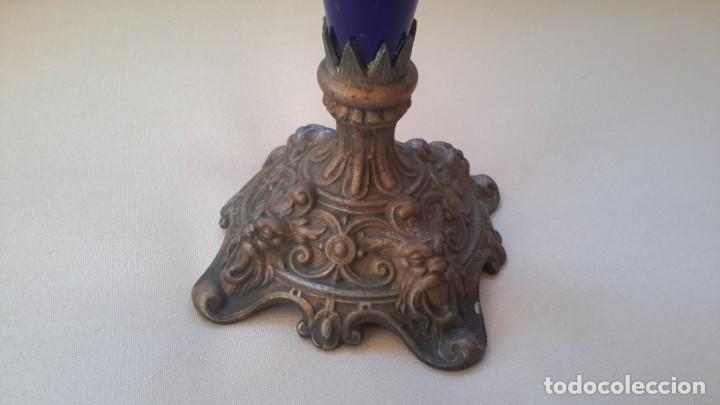 Antigüedades: Candelabro tres brazos, lagrimas de cristal - Foto 4 - 165191934